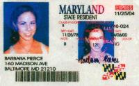 Barbara Bush's Fake Maryland Drivers License